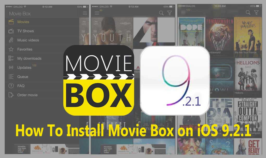 How to download & install Movie Box on iOS 9.2.1 ?
