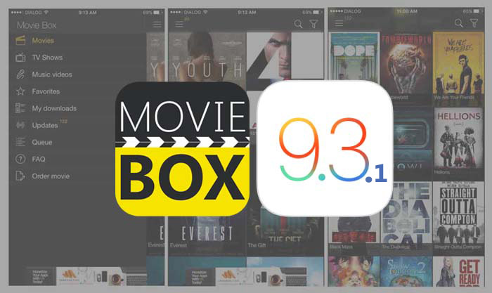 Download Movie Box for iOS 9.3 / 9.3.1 iPhone, iPad with or without jailbreak